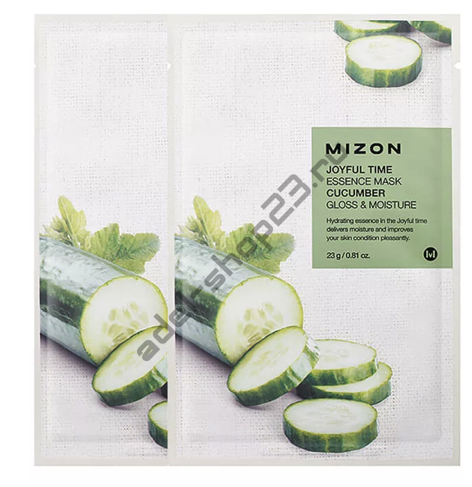 "MIZON  - Тканевая маска ""Cucumber"" Joyful Time Essence Mask"