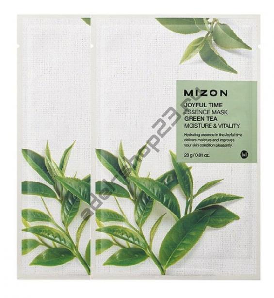 "MIZON  - Тканевая маска ""Green Tea"" Joyful Time Essence Mask"