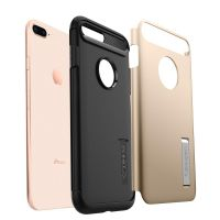 Чехол Spigen Slim Armor для iPhone 8 Plus золотой