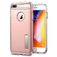 Чехол Spigen Slim Armor для iPhone 8 Plus розовое золото