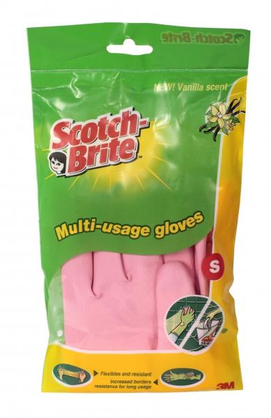 Перчатки хозяйственные универсальные 3М Scotch-Brite (Скотч Брайт) размер S, 1 пара