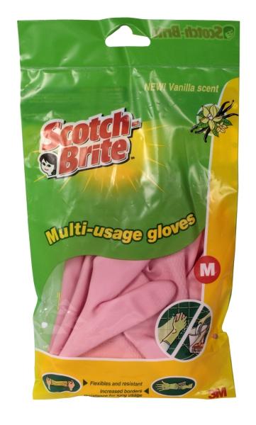 Перчатки хозяйственные универсальные 3М Scotch-Brite (Скотч Брайт) размер M, 1 пара