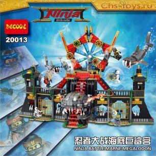 Конструктор Decool Ninja Нападение Мегалодона 20013 (Аналог LEGO Ninja) 1171 дет