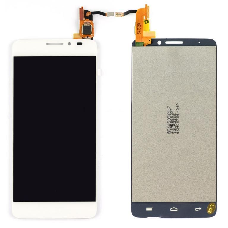 LCD (Дисплей) Alcatel 6040 OneTouch Idol X/6040D OneTouch Idol X/6040X OneTouch Idol X(в сборе с тачскрином) (white) Оригинал