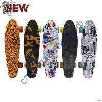 Скейтборд пластиковый со светящимися колёсами