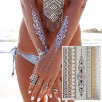 Временные татуировки Shimmer Jewelry Tattoos Metallic