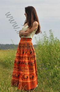 Длинная юбка с запахом