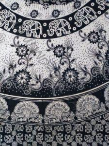 ЧЁРНО-БЕЛАЯ индийская юбка с запахом
