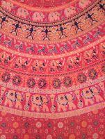 Красная индийская юбка с запахом, длинна в пол