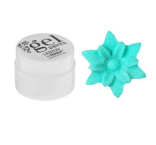 Гель для дизайна ногтей, 4D, трёхфазный, LED/UV, 8гр, цвет 015 бирюзовый