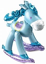 Маленькая фигурка лошадки для мальчика шар фольгированный с воздухом
