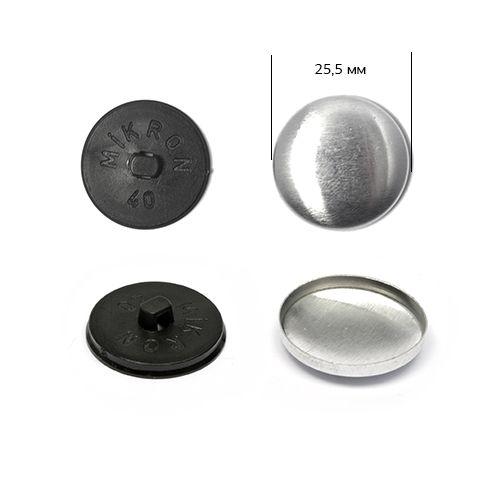 Заготовка для обтяжки пуговиц тканью №40 (25,5мм) Пластиковая ножка (чёрная)