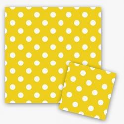 Салфетки желтые в горох