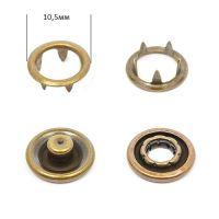 Кнопка трикотажная 10,5мм Антик (кольцо) NewStar нерж. Упаковка-1440шт