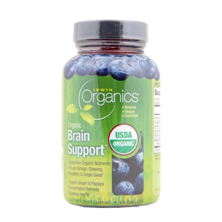 Irwin Naturals Комплекс для мозга Organic Brain Support, 60 табл.