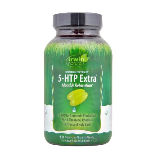 Irwin Naturals Double Potency, 5-HTP Extra, 60 капсул