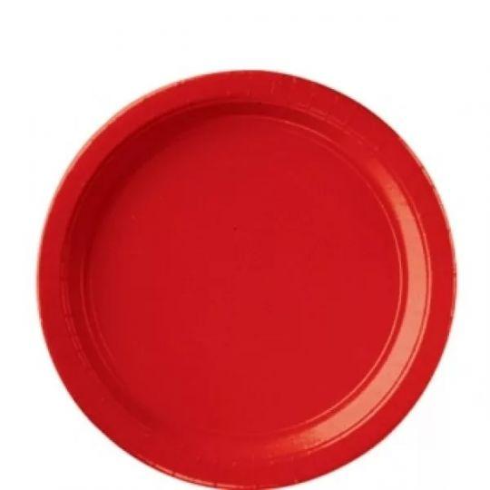 Тарелки красные