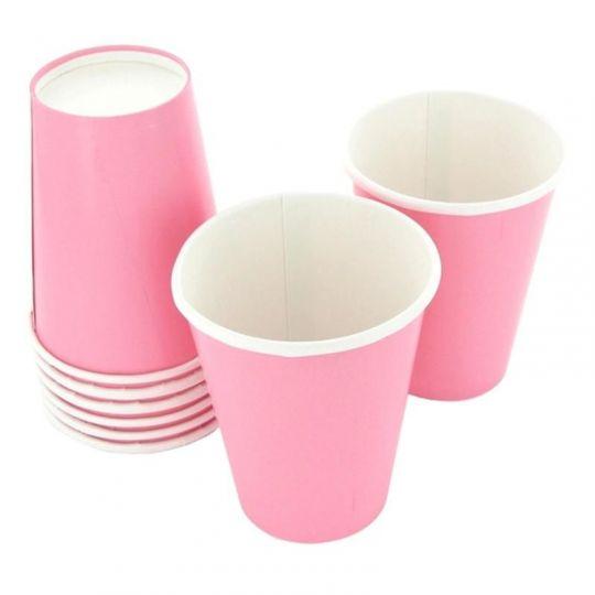 Стаканы розовые