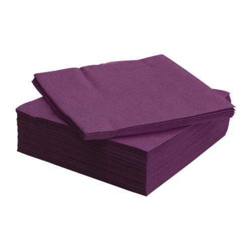 Салфетки фиолетовые (сиреневые)