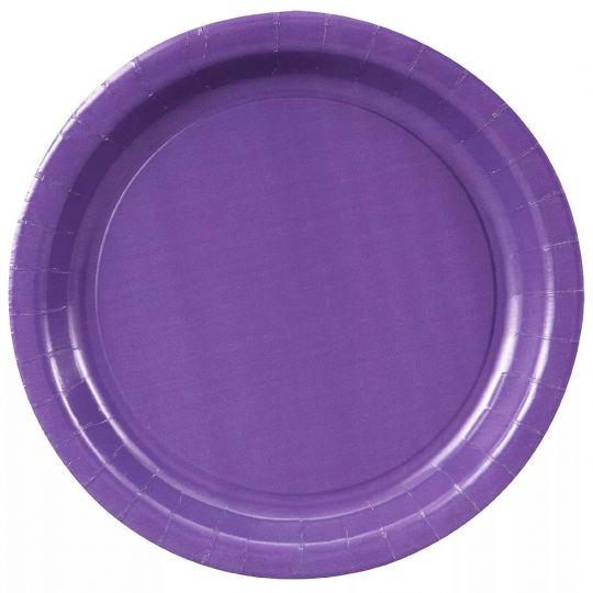 Тарелки фиолетовые (сиреневые)