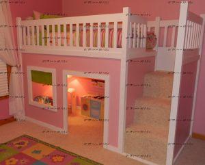 Кровать-чердак Домик №6 Wood