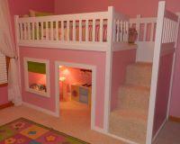 Кровать-чердак Домик Fantasy №24