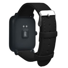 Сменный кожаный ремешок для Amazfit Bip (черный)