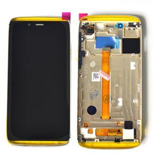 LCD (Дисплей) Alcatel 6032X Idol Alpha (в сборе с тачскрином) (в раме) (black) Оригинал