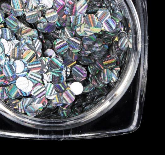 Камифубуки для дизайна ногтей, 3D, d=2мм, 2гр, цвет серебристый