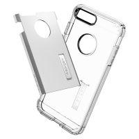 Чехол Spigen Tough Armor для iPhone 8 Plus серебристый