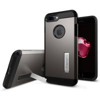 Чехол Spigen Tough Armor для iPhone 8 Plus темный металлик