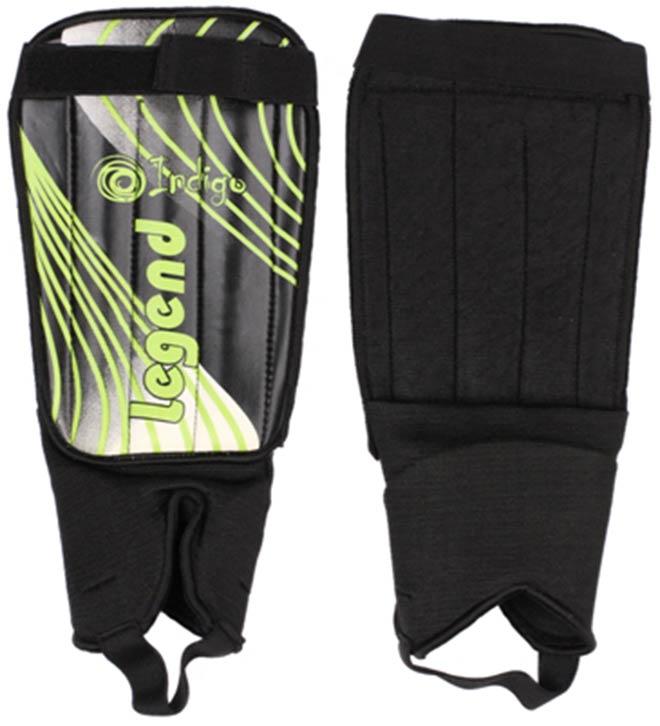 Щитки футбольные с защитой щиколотки Indigo 1511 (размер M-L)