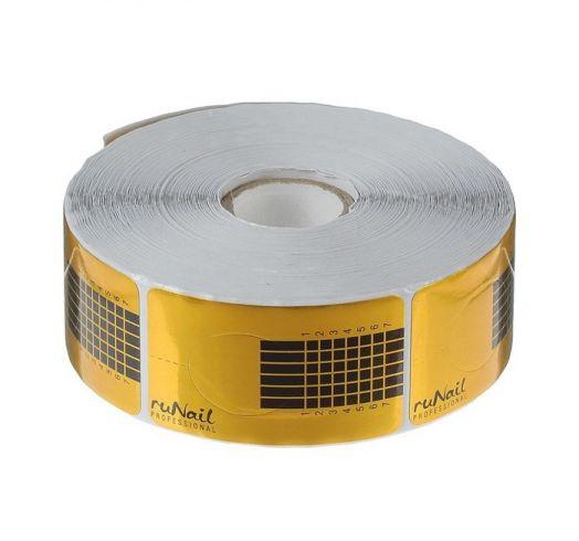 Формы для ногтей RuNail, узкие, 500шт, цвет золотой