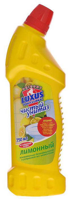 """Активный гель """"Чистый унитаз"""" Лимон LUXUS PROFESSIONAL (Люксус Профешинал) 750 мл"""