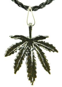 Медальон металлический Каннабис (простой)