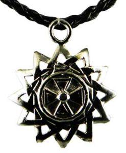 Медальон металлический Крест в солнце