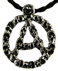Медальон металлический Анархия