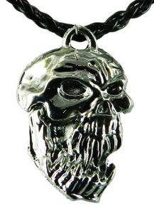 Медальон металлический Череп вампира
