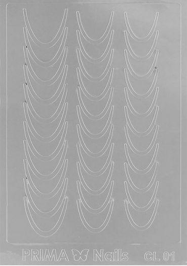 Наклейки для ногтей, CL-001, цвет серебристый