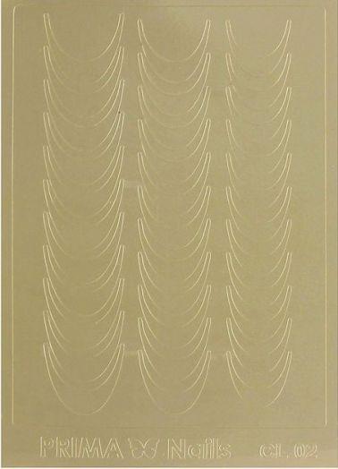 Наклейки для ногтей, CL-002, цвет золотой