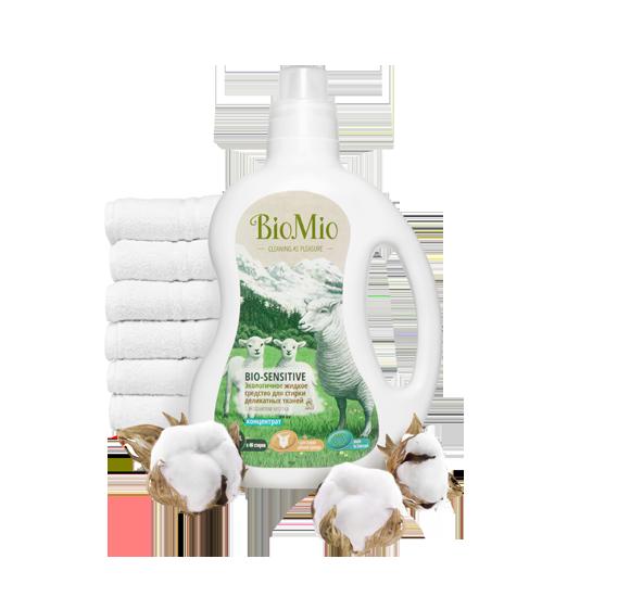 Средство жидкое для стирки Деликатных тканей Без Запаха Концентрат BioMio (БиоМио) 1500 мл