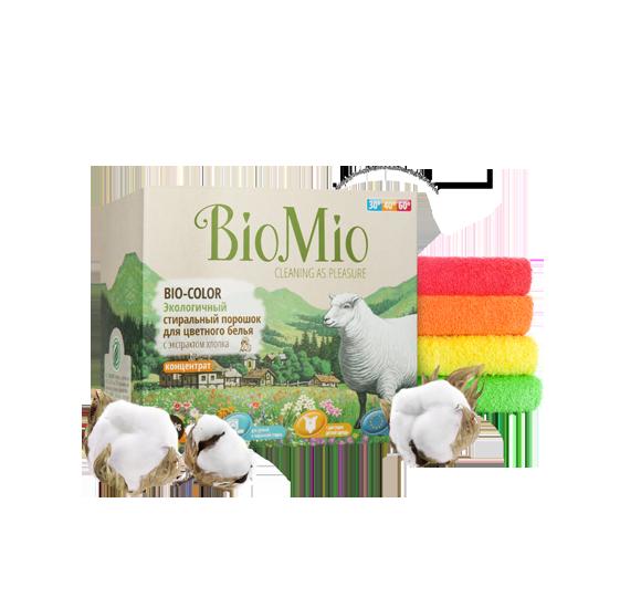 Стиральный порошок для цветного белья Без Запаха Концентрат  BioMio (БиоМио) 1500 гр