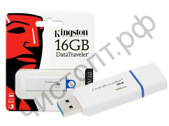 флэш-карта USB 3.0 Kingston 16GB DTIG4  белый/синий