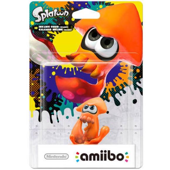 Amiibo: Интерактивная фигурка Инклинг-кальмар (Оранжевый) (Коллекция Splatoon 2)