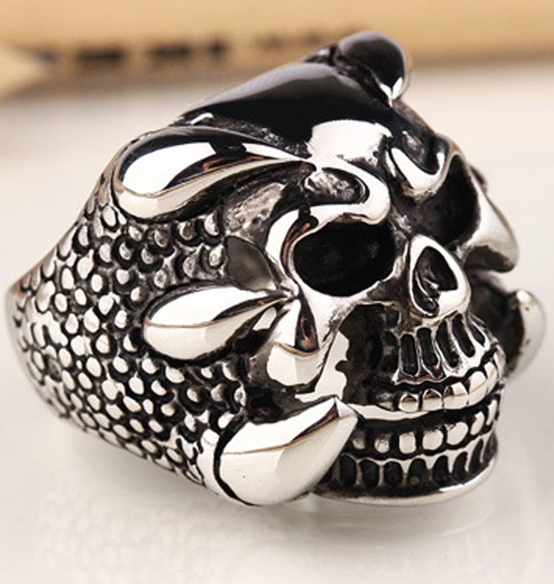 Перстень Череп в когтях