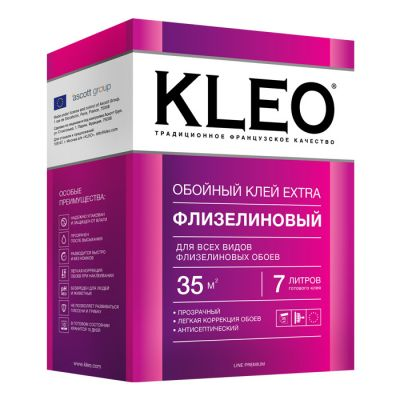 Клей обойный Kleo Extra для флизелиновых обоев 240 г.
