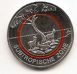 Cубтропическая зона 5 евро Германия 2018