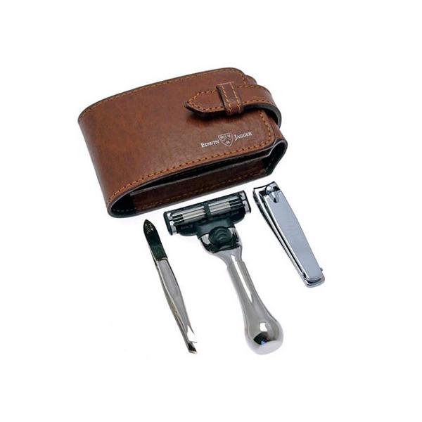 Дорожный бритвенный набор Edwin Jagger с клиппером