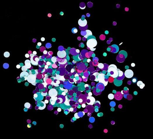 Камифубуки для ногтей, цвет белый/бирюзовый/фиолетовый