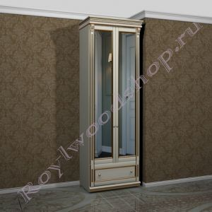 """Шкаф зеркальный 80 """"Руссильон PROVENCE светлое дерево . Модуль 8"""
